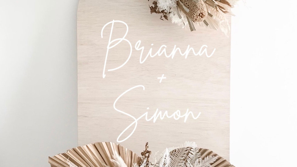 Personalised Arch Wooden Event Sign/Photo Prop