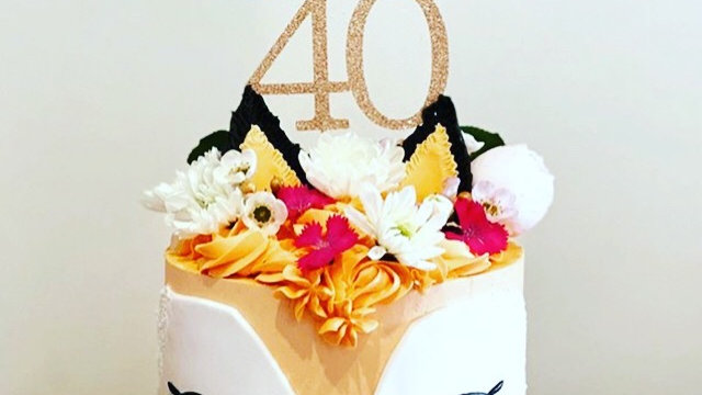 'Foxy at 40' Cake Topper
