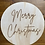 Thumbnail: Merry Christmas Etched Wooden Sign