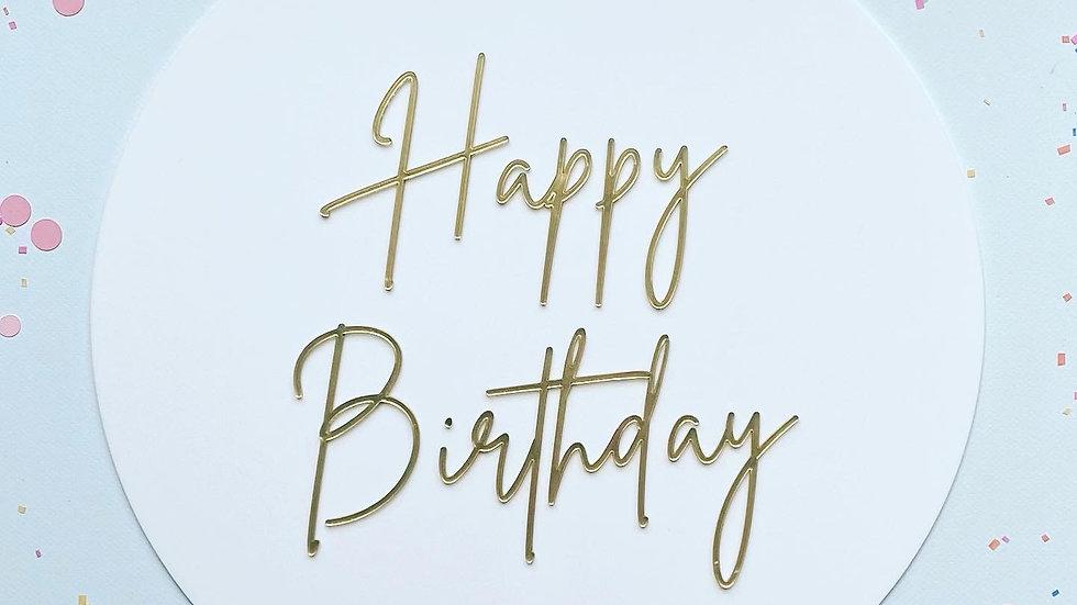 Happy Birthday Acrylic Sign
