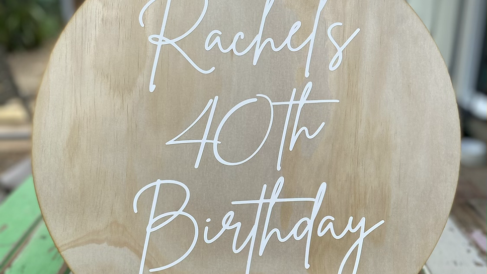 Personalised Birthday Wooden Sign / Photo Shoot / Party Display