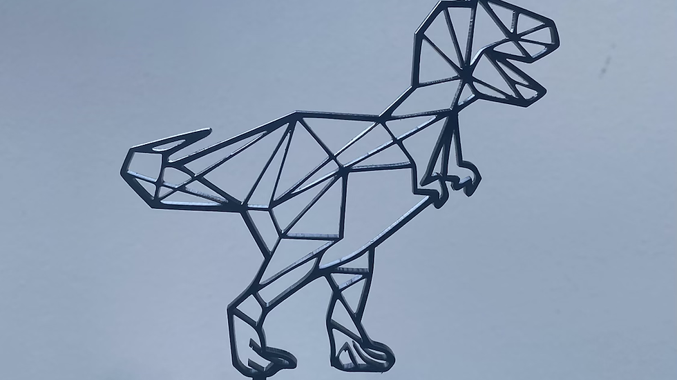 Geometric Acrylic Dinosaur Cake Topper
