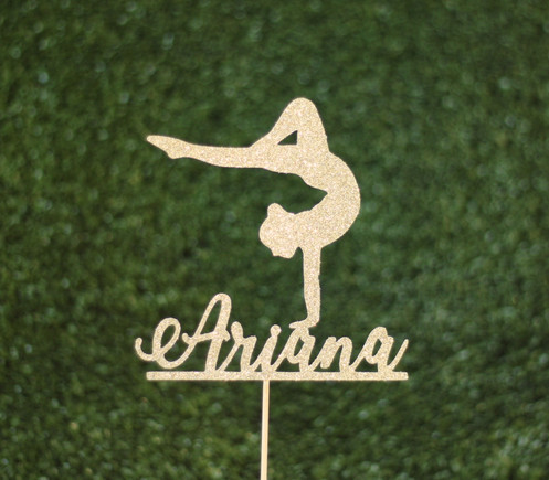 537e78890599 Personalised gymnast cake topper