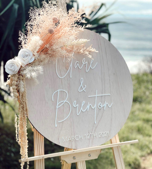 Personalised Wooden Wedding / Engagement Sign