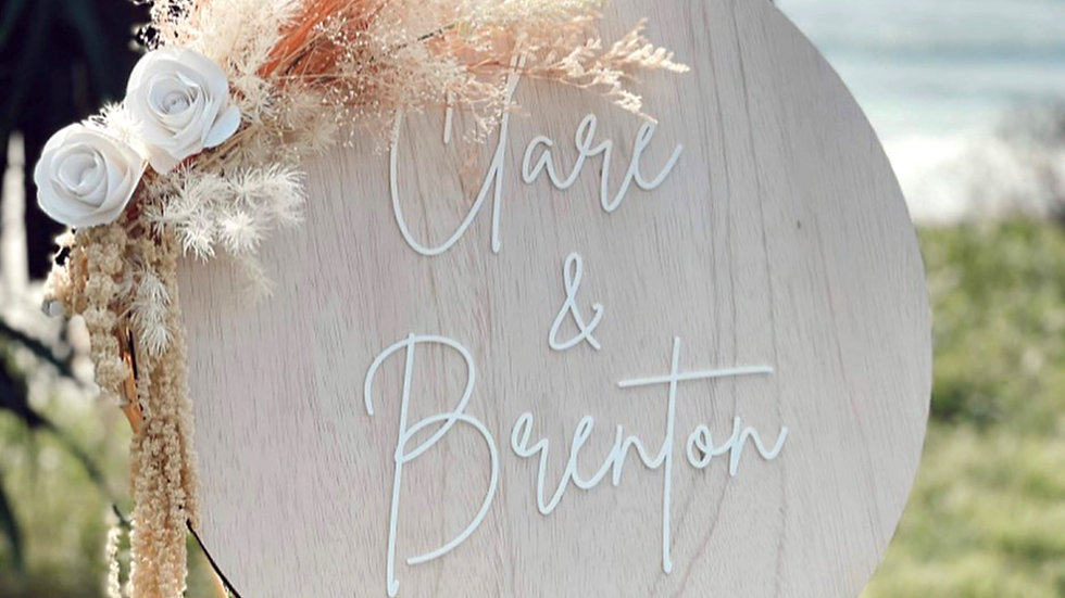 Personalised Wedding /Engagement Wooden Sign
