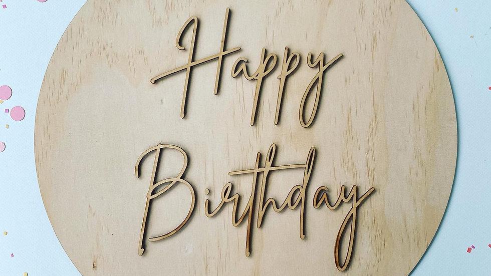 Happy Birthday Wooden Sign/Guest Book Alternative