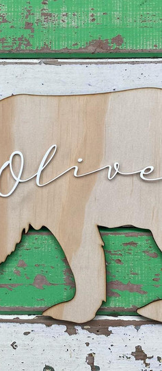 Bear Wooden Sign