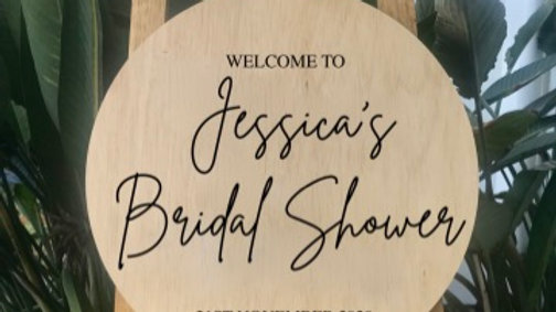 Personalised Bridal Shower Wooden Sign / Alternative Guest Book