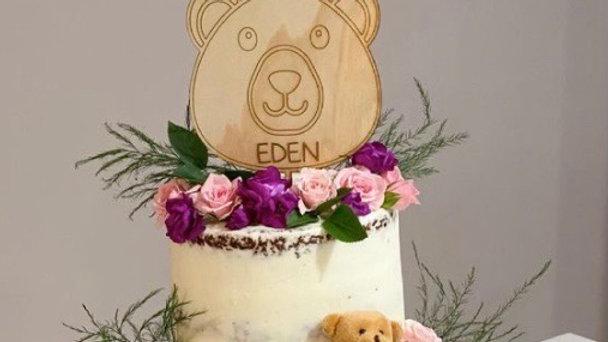 Wooden Animal Cake Topper