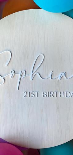 Personalised Birthday Sign