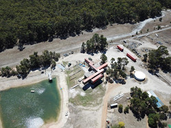 Lanigan Architects - Kaloorup Shipping Container Home - under construction - aerial view of house