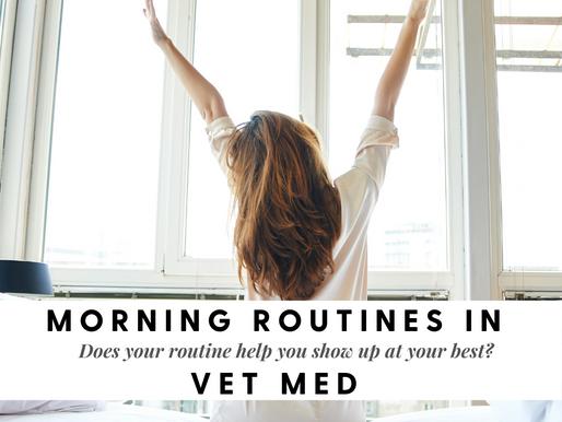 Morning Routines in Vet Med: Part 1