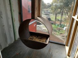Lanigan Architects - Kaloorup Shipping Container Home - under construction - hanging fireplace