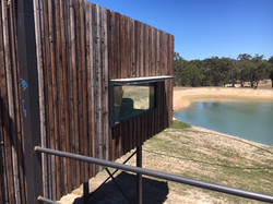 Lanigan Architects - Kaloorup Shipping Container Home - under construction - recycled timber claddin