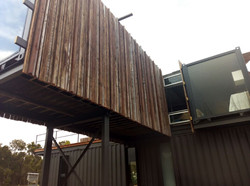Lanigan Architects - Kaloorup Shipping Container Home - recycled jarrah cladding