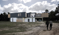 Lanigan Architects - Kaloorup Shipping Container Home - concept design - rear view