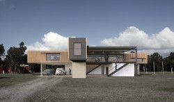 Lanigan Architects - Kaloorup Shipping Container Home - concept design - front view