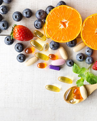 Multivitamins and supplements with fresh