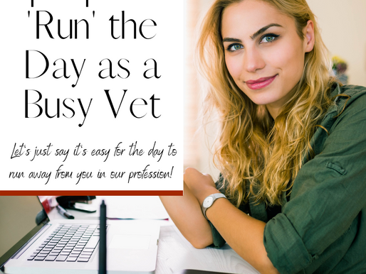 4 Tips to Run the Day (instead of vice versa) in Vet Med