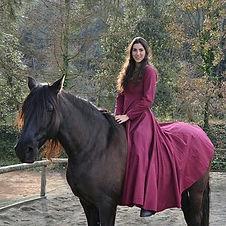 Modelo a caballo, fotografía