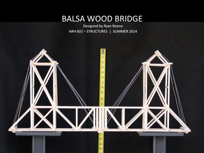 Balsa Wood Bridge Structural Test