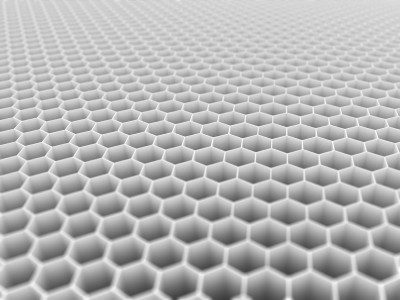 Honeycomb as seen from an angle