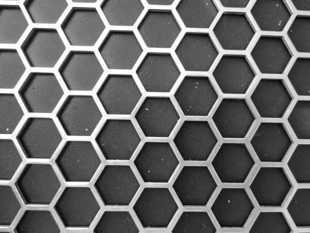 Honeycomb as seen from straight ahead