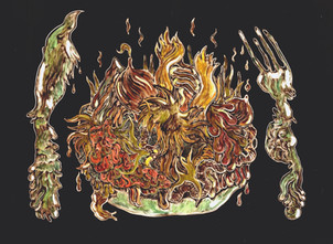 Hot Compost (a series of works on paper)