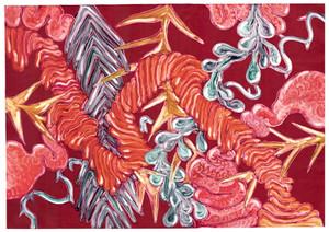 Jungle Gut_Ink & OIl on paper_83x58cm_20
