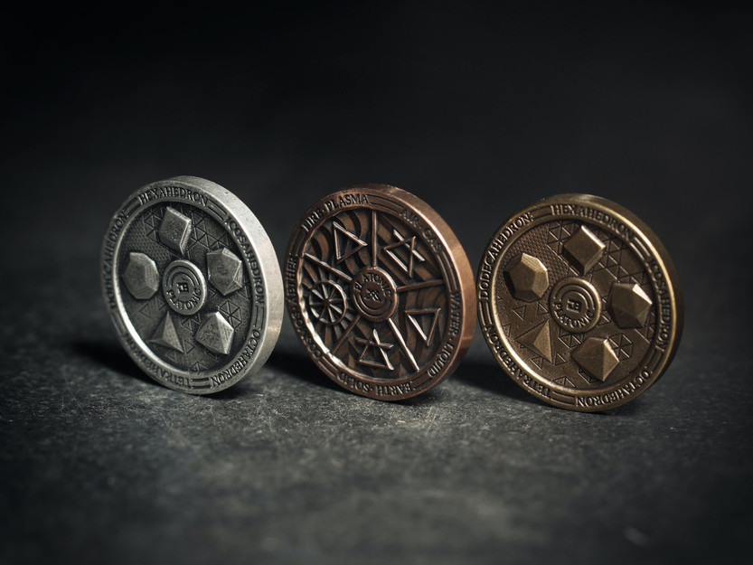 Check out The Platonic Coin