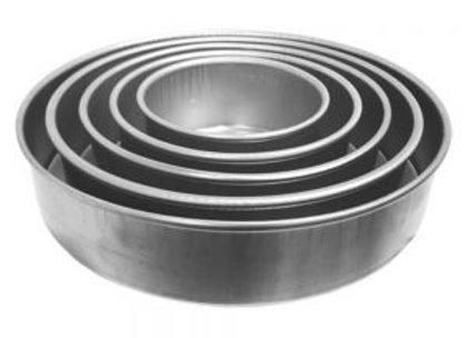 """Round Cake Pans - 3"""" Deep"""