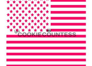 Stencil-American Flag 2-piece
