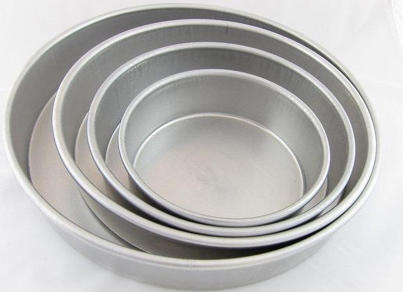 """Round Cake Pans - 2"""" Deep"""
