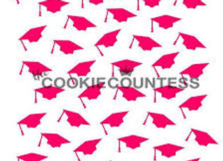 Stencil-Graduation Caps Background