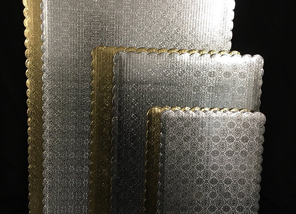 Silver & Gold Cardboard Sheet Cake Boards