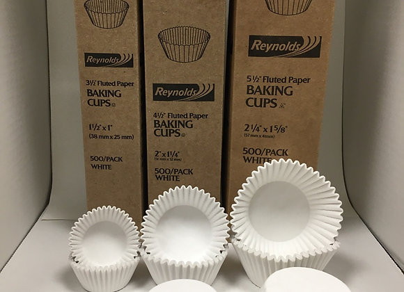 White Fluted Baking Cups - 500 pk