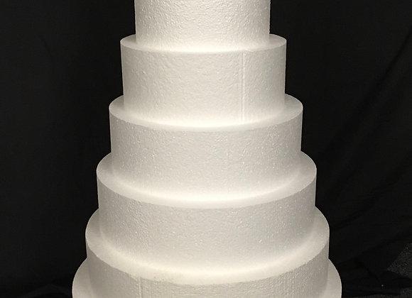 Styrofoam Round Cake Dummies