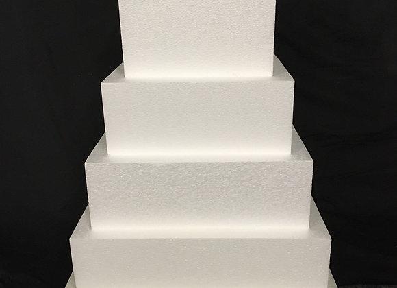 Styrofoam Square Cake Dummies