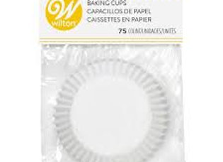 Wilton White Baking Cup 75pk