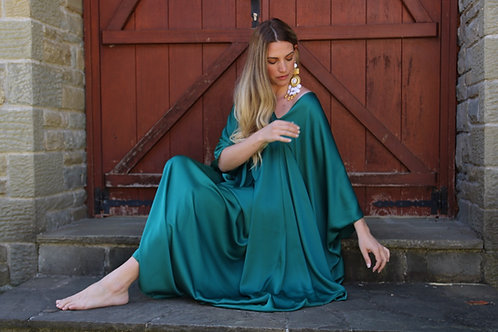 """Irene"" dress emerald"