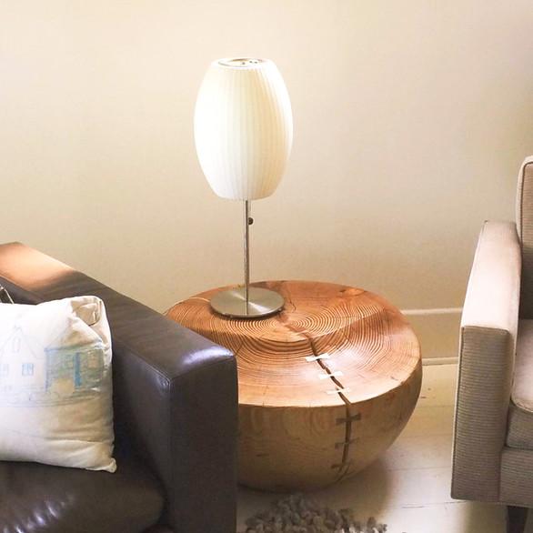 Modern Fir wood and bronze table