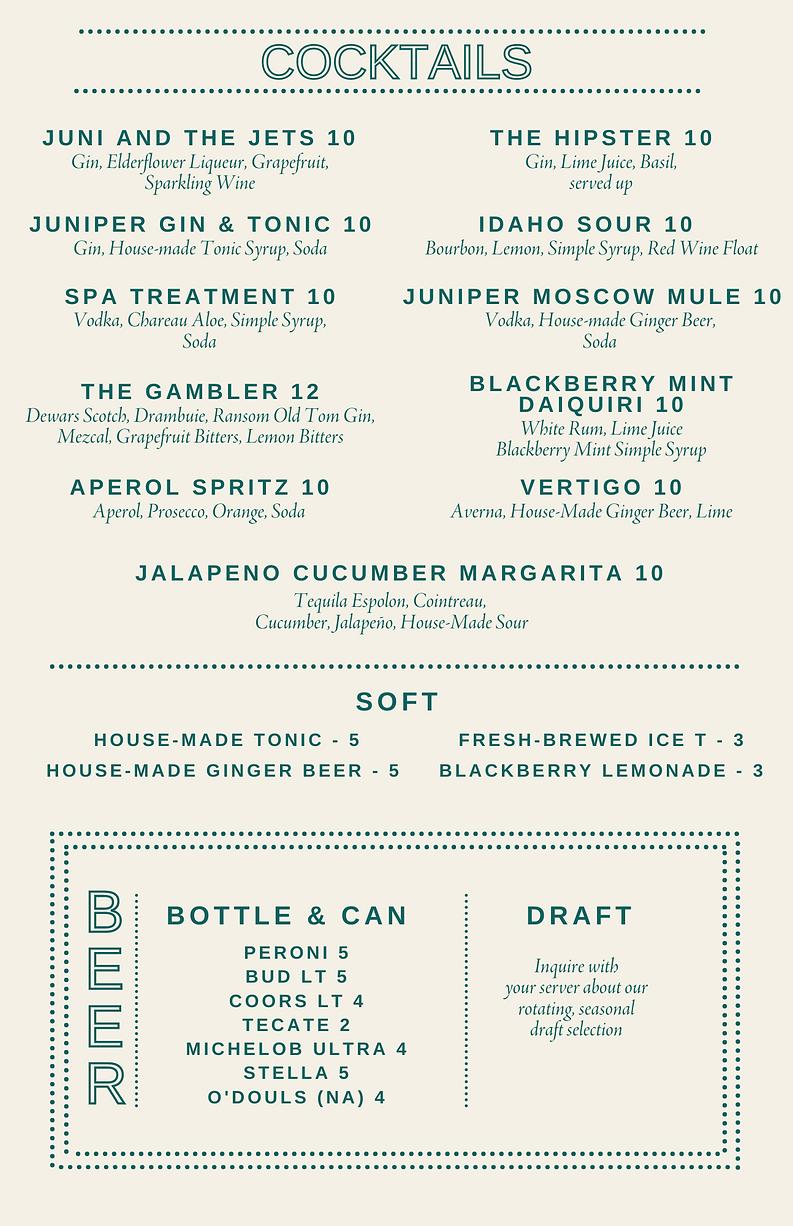 Cocktail_Bar Menu