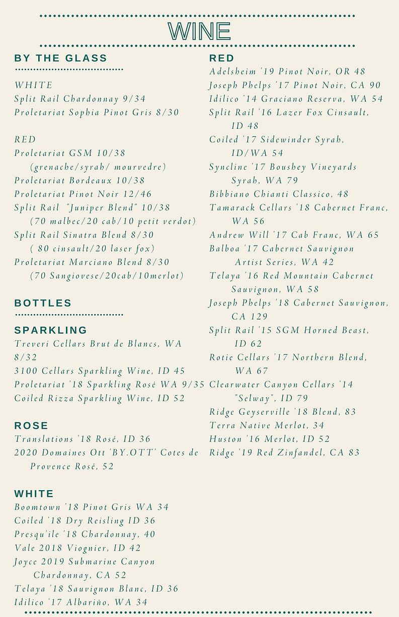 _Cocktails & Wine Juniper Menu May 28, 2