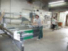 Atelier commande numérique scie plaqueuse bois vernis laque