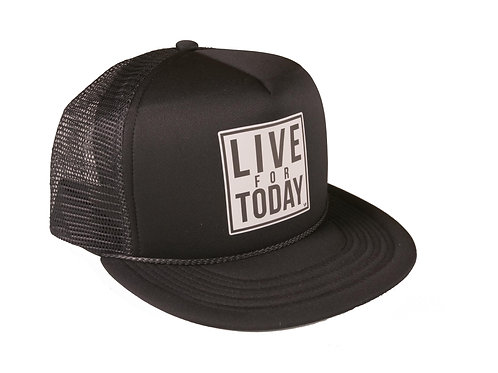 Black Live For Today Hat - Low Profile