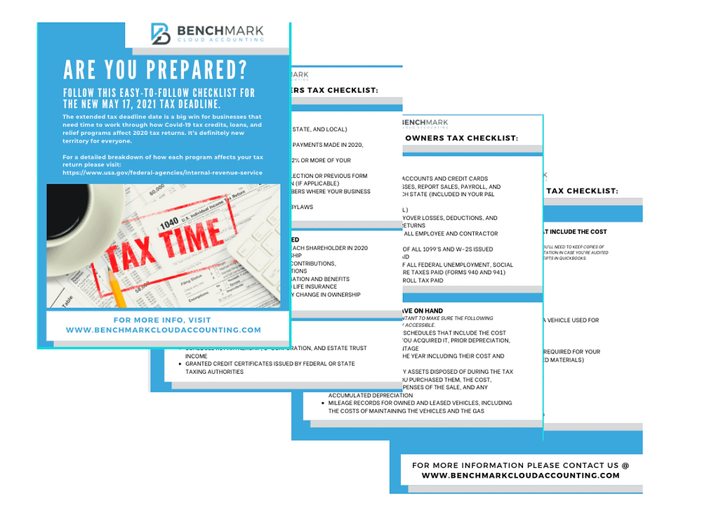 image of the tax checklist