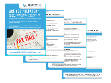 THE Checklist you need for New Tax Day (May 17th)