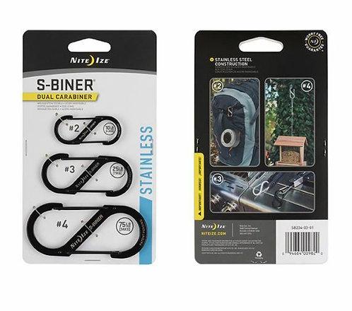 Nite Ize S-Biner® Dual Carabiner Stainless Steel - 3 Pack