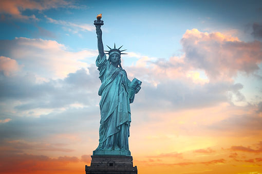 Statue of Liberty on the background of c
