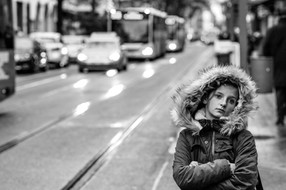 A Girl waiting for the Bus, 2016